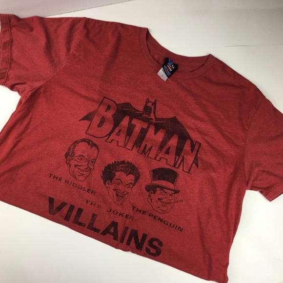free shipping af727 49b51 Junk Food Batman Villains Red Graphic T-Shirt